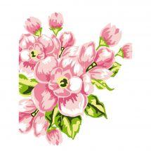 Kit di tela per bambini - Luc Créations - fiori, rose,