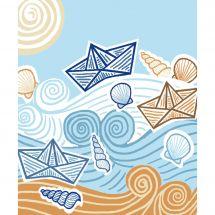 Kit di tela per bambini - Luc Créations - Il mare