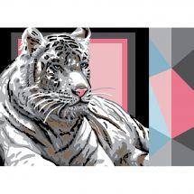 Canovaccio antico - Luc Créations - Tigre bianco