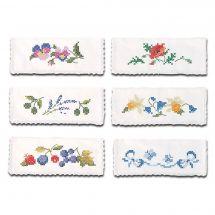 Borsa asciugamano da ricamare - Luc Créations - 6 buste portatovagliolo da ricamare
