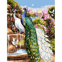 Canovaccio antico - Luc Créations - Il giardino delle rose di pavone