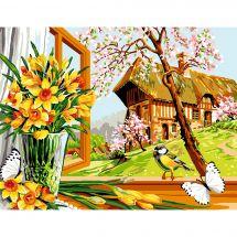 Canovaccio antico - Luc Créations - La primavera al fenètre