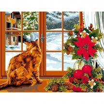 Canovaccio antico - Luc Créations - L'inverno alla finestra