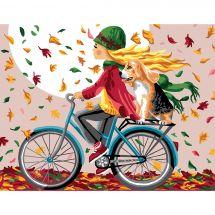 Canovaccio antico - Luc Créations - Una bicicletta