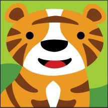 Kit di tela per bambini - SEG de Paris - Tigre
