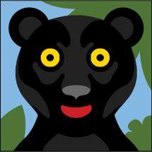 Kit di tela per bambini - SEG de Paris - Pantera nera