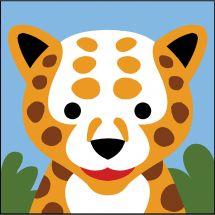 Kit di tela per bambini - SEG de Paris - Leopardo