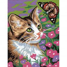 Kit di tela per bambini - Margot de Paris - Gattino e farfalla