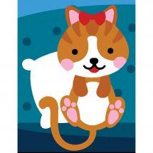 Kit di tela per bambini - Margot de Paris - Gatto blu