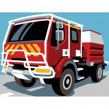 Kit di tela per bambini - Margot de Paris - Camion pompier