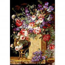 Canovaccio antico - SEG de Paris - Cesto e vaso di fiori