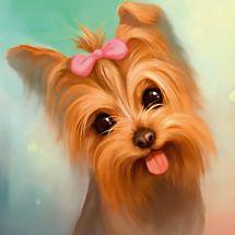 Kit ricamo diamante - Diamond Painting - Yorkshire terrier