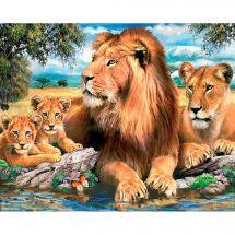 Kit ricamo diamante - Diamond Painting - Il famiglia leone