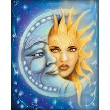 Kit ricamo diamante - Diamond Painting - Luna e sole