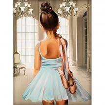 Kit ricamo diamante - Diamond Painting - Ballerina