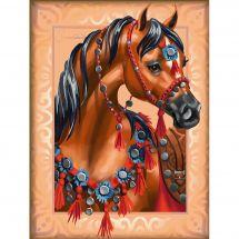 Kit ricamo diamante - Diamond Painting - Cavallo arabo