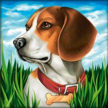 Kit ricamo diamante - Diamond Painting - beagle