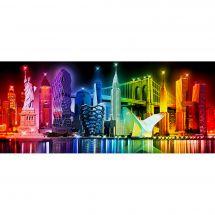 Kit ricamo diamante - Diamond Painting - Colori di New York