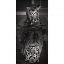 Kit ricamo diamante - Diamond Painting - Riflesso della tigre