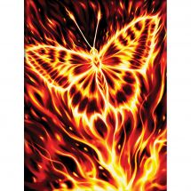 Kit ricamo diamante - Diamond Painting - farfalla ardente