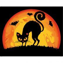 Kit di pittura per numero - Wizardi - Il gatto di halloween