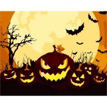 Kit di pittura per numero - Wizardi - Zucche di Halloween