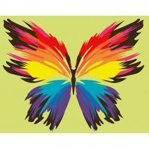 Kit di pittura per numero - Wizardi - Farfalla arco in cielo