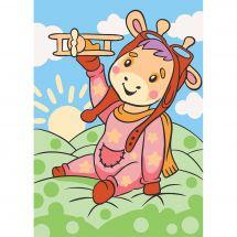 Kit di pittura per numero - Wizardi - Giraffa bambino