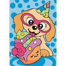 Kit di pittura per numero - Wizardi - happy birthday