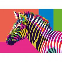 Kit di pittura per numero - Wizardi - La zebra arcobaleno