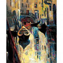 Kit di pittura per numero - Wizardi - La vecchia Venezia