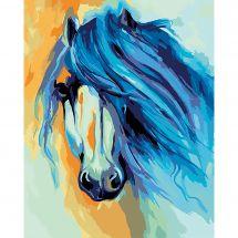 Kit di pittura per numero - Wizardi - Cavallo
