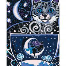 Kit di pittura per numero - Wizardi - Notte magica