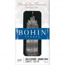 Aghi da cucire - Bohin - Aghi per cucire a mano ad occhio grande da 3 a 9