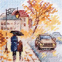 Kit Punto Croce - Alisa - Boulevard sotto la pioggia
