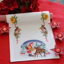 Kit runner da ricamare - Anchor - Il pranzo delle renne