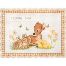Kit Punto Croce - Anchor - Nascita bebé animali