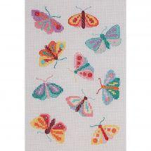 Kit Punto Croce - Anchor - Cuscino da ricamare farfalle