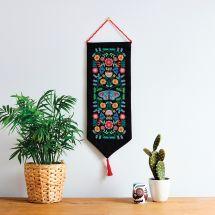 Kit per banner da ricamo - Anchor - Folclore floreale