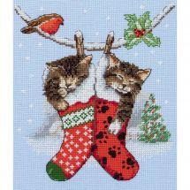 Kit Punto Croce - Anchor - Gattino di Natale