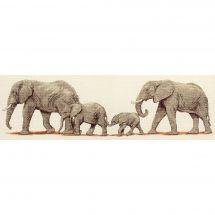 Kit Punto Croce - Anchor - La passeggiata degli elefanti