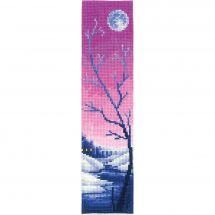 Kit segnalibro da ricamo - Andriana - Crepuscolo lilla