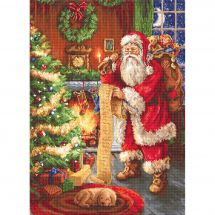 Kit Punto Croce - Luca-S - Babbo Natale che consulta il suo elenco