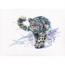 Kit Punto Croce - RTO - Il leopardo bianco