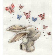 Kit Punto Croce - Bothy Threads - Cuscino da ricamare farfalle