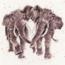 Kit Punto Croce - Bothy Threads - Coppia di elefanti