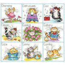 Kit Punto Croce - Bothy Threads - È la vita di un gatto