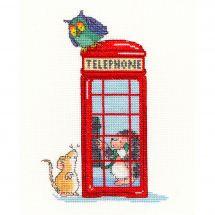 Kit Punto Croce - Bothy Threads - Cabina telefonica di Londra