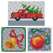 Adesivo da ricamo Diamante - Collection d'Art - Pannello 3 adesivi - decorazione di Natale