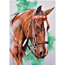 Kit ricamo diamante - Collection d'Art - Testa di cavallo